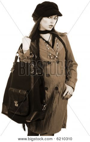 Beautiful Woman With A Bag