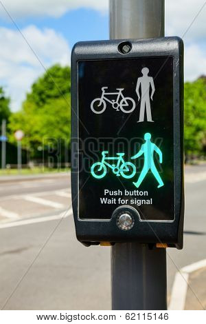 British pedestrian and cyclist crossing