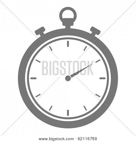 minimalistic illustration of a stopwatch, eps10 vector