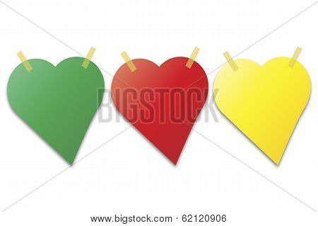 Post It Notes In The Shape Of Heart