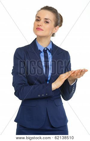 Portrait Of Business Woman Clapping