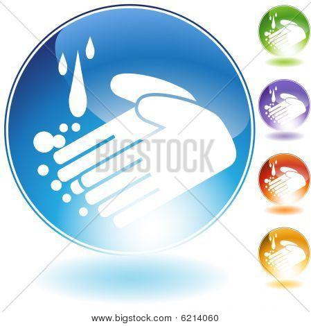 handwashing crystal icon