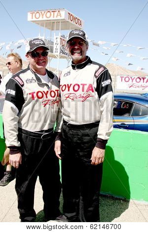 LOS ANGELES - MAR 15:  Al Unser Jr, Kyle Petty at the Toyota Grand Prix of Long Beach Pro-Celebrity Race Training at Willow Springs International Speedway on March 15, 2014 in Rosamond, CA