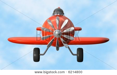 Airplane front - isolated