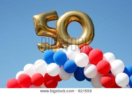 50 Year Celebration Balloons