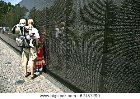 Names Of Vietnam War Casualties On Vietnam War Veterans Memorial