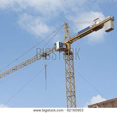High Crane On A Building Site