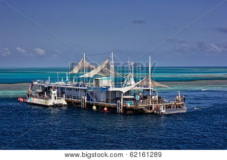 Reefworld pontoon on the Great Barrier Reef