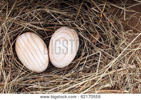 Wooden Eggs.