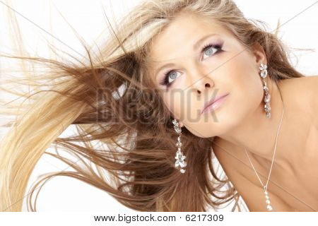 Blonde With Flying Hair