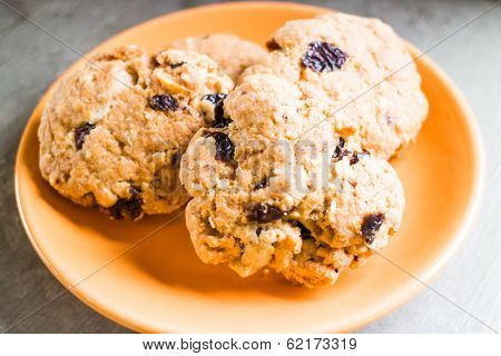 Cereal Cookies On The Plate