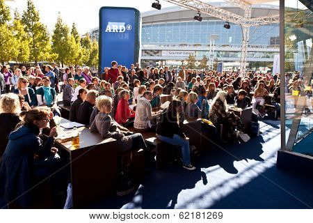 People Watching A Live Show Of The German Broadcast Ard