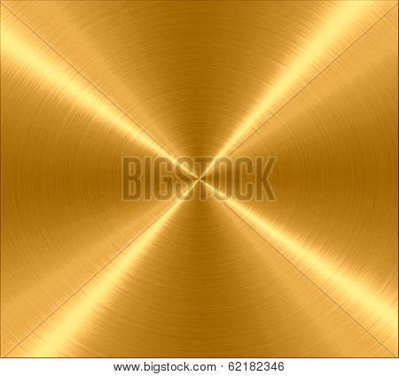 Gold Metallic Stainless Steel Metal Texture Background poster