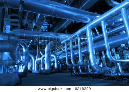 Pipes Inside Energy Plant.