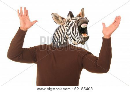 Funny Zebra Man Concept
