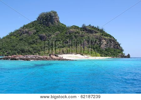 Beautiful Rugged Modriki Island, Fiji
