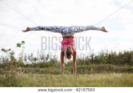 Girl training outdoor