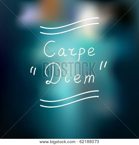 Typographic design. Carpe Diem