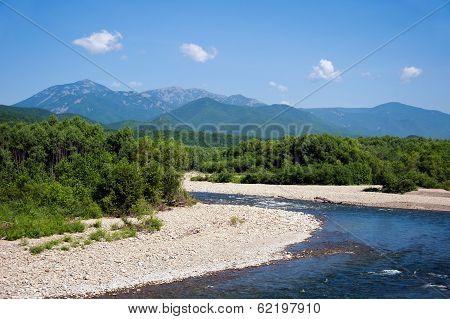 Mountains Belaya And Lisaya On The Horizon