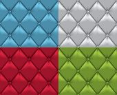 Vector Leather Vintage Upholstery Seamless Background Set poster