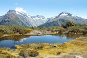 Routeburn track, fabulous scenery in New Zealand poster