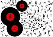 Classic retro/vintage music LP record disc popular with DJs and the disco scene. poster