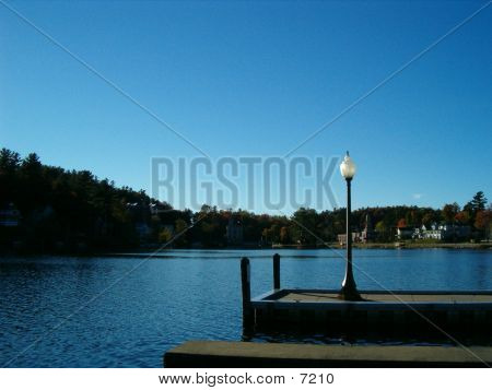 Lamp Post On The Dock