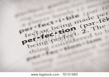 Dictionary Series - Attributes: Perfection