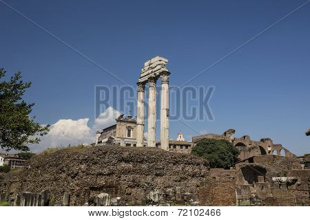Roman Temple On A Hill