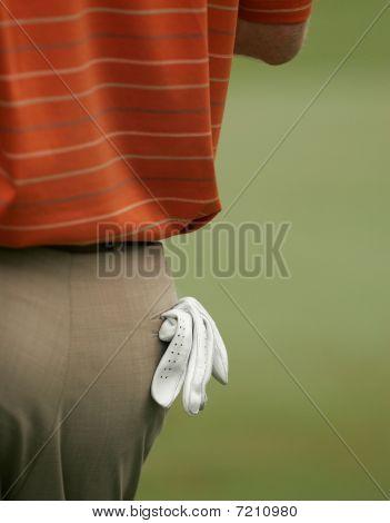 Golf Glove In Rear Pocket - Clipping Path