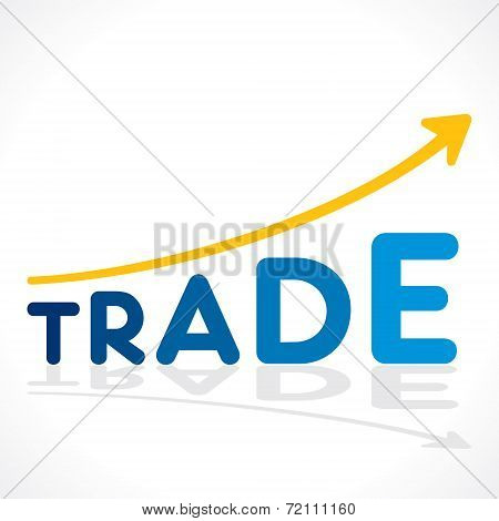 creative trade word growth graph vector