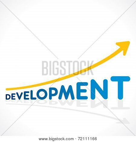 creative development word graph design vector
