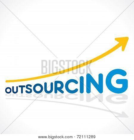 creative outsourcing word graph design vector