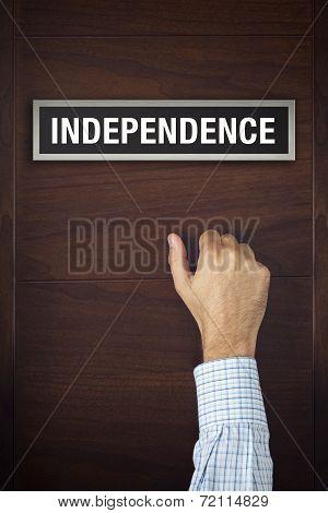 Hand Is Knocking On Independence Door