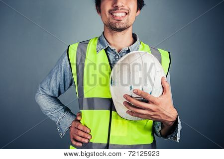 Happy Young Engineer With Hard Hat