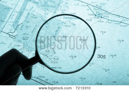 Surveyor's Plan And Loupe With Backlight