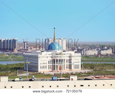 Cityscape Of Astana With Ak Orda