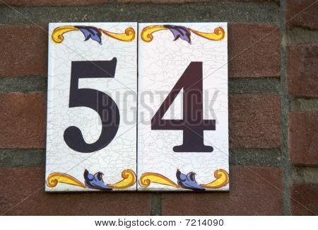 House number: 54