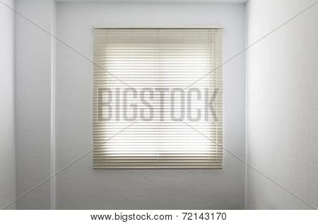 Venetian Blinds In A White Empty Room
