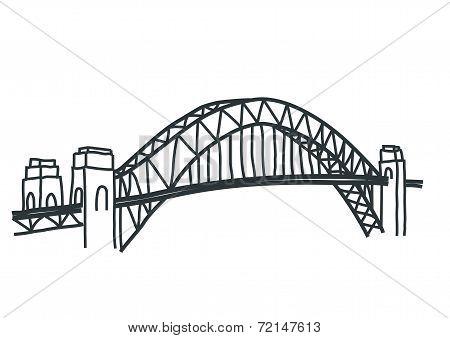 sydney harbour bridge simple drawing