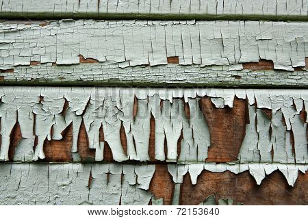 Old Painted Wooden Siding
