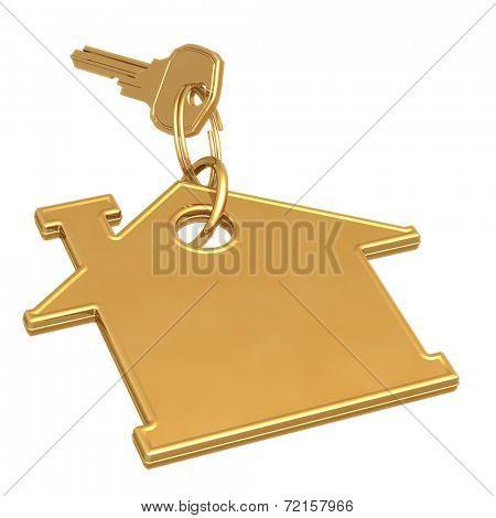Golden House Key 3D