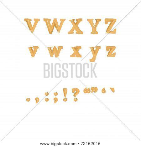 English Punctuation And Alphabet