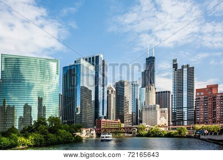West Wacker Drive Skyline