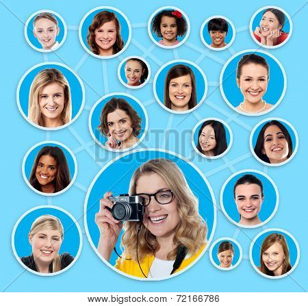 Social Network Of A Female Photographer