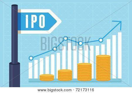 Vector Ipo (initial Public Offering) Concept