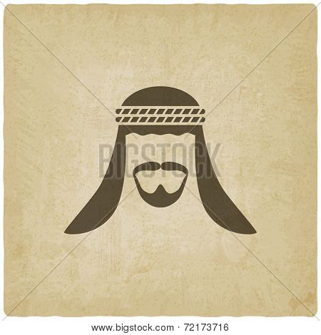 Arabic man avatar old background