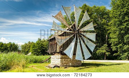 Windmill In Open-air Astra Museum In Sibiu, Romania
