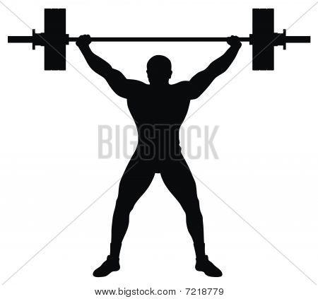Gewichtheber Leichtathlet