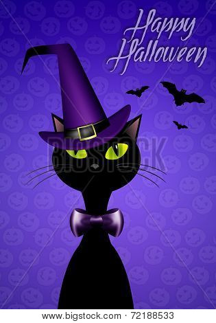 Black Cat For Happy Halloween